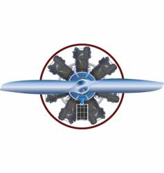 Airplane engine vector