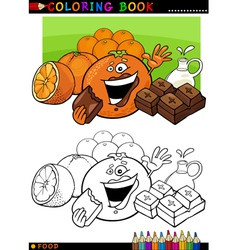 oranges and chocolate for coloring vector image