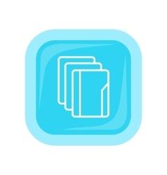 Document folder icon vector