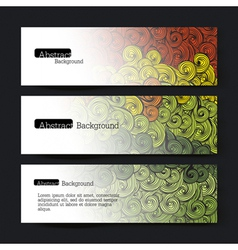 set of three waves banners vector image