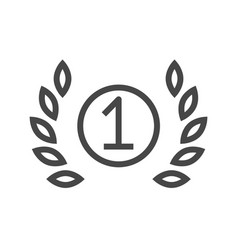 First place thin line icon vector