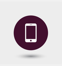 Smartphone icon simple vector