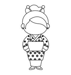 Gir wearing a kimono icon vector