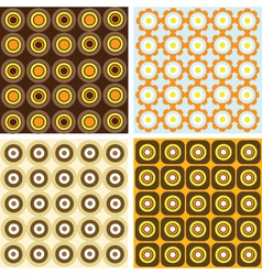 retro patterns vector image