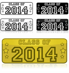 Class of 2014 stickers vector