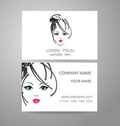 Barber logo template identity card vector