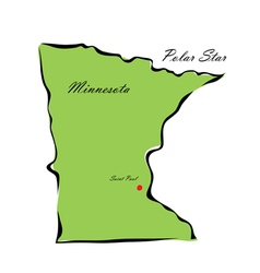 State of minnesota vector