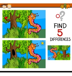 Preschool differences game vector