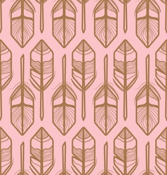 FEATHERS PATTERN GEOMETRIC STYLE vector image