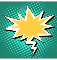 Explosion and lightning comic bubble retro vector