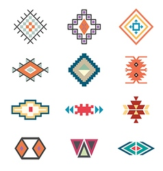 Symbols tribal design ethnic motif boho vector