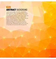 Polygonal abstract yellow back for presentation vector