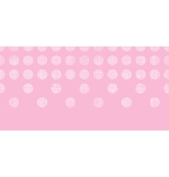 Abstract pink textile dots horizontal seamless vector image
