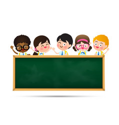 Back to school and education concept happy vector