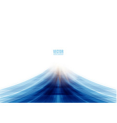 blue road abstract vector image