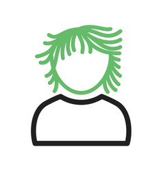 Boy with long wavy hair vector