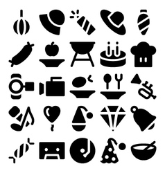 Celebration and party icons 4 vector