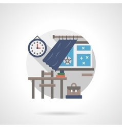 Classroom detail flat color icon vector