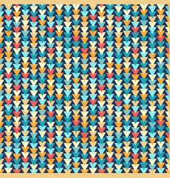 colorful triangles seamless pattern vector image vector image
