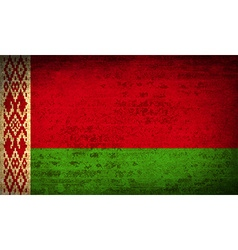 Flags Belarus with dirty paper texture vector image