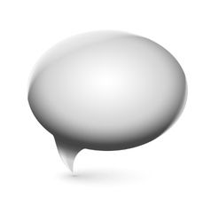Glossy speech bubble vector image vector image