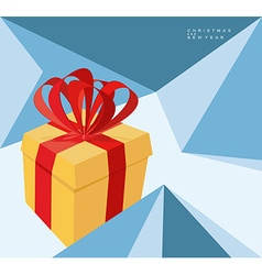 New year abstract background of geometric shapes vector image