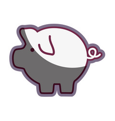Pig icon save money currency vector