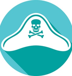Pirate hat icon vector