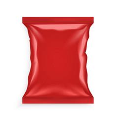Red plastic bag vector