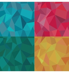 Seamless polygonal pattern set background vector
