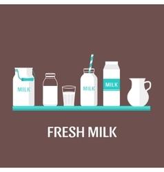 Set of milk vector image vector image
