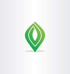 Spiral green leaf logo abstract business icon vector
