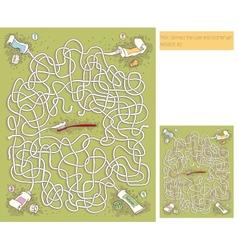 Toothpaste maze game vector