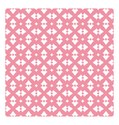 Vintage pattern with white decorations on pink vector