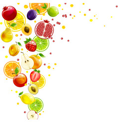 whirlwind of juicy fruit vector image