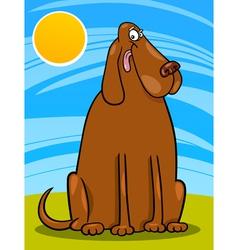 big brown dog cartoon vector image