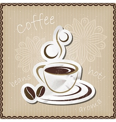 Coffee mug icon vector image