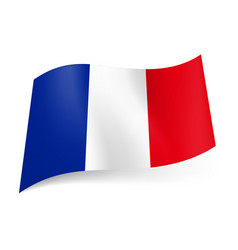 National flag of france blue white and red vector