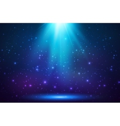 Blue shining top magic light background vector image