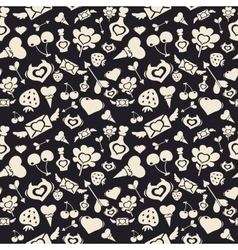 Sweet valentine pattern dark vector