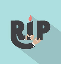 Rest in peace typography design vector