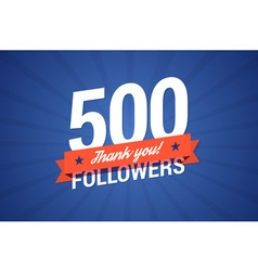 500 followers vector image vector image