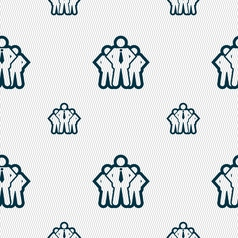 Business team icon sign seamless pattern with vector