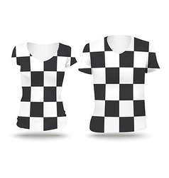 Checkered flag shirt design vector image