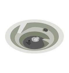 Quarry isometric 3d icon vector image