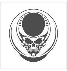 Demon skull on white vector