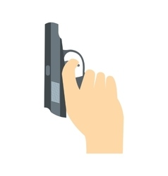 Starting pistol flat icon vector