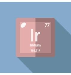 Chemical element iridium flat vector