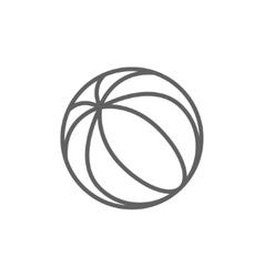 Beach ball line icon vector image