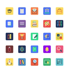 School and education colored icons 1 vector